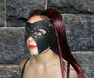 249 Pyramid Studded Leather Mask