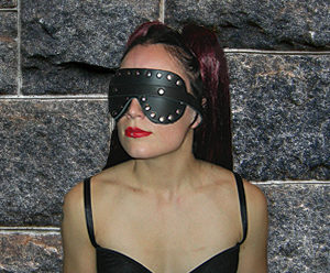 392 Fur Lined Studded Deluxe Blindfold
