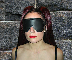 562 Leather Blindfold With Elastic Strap