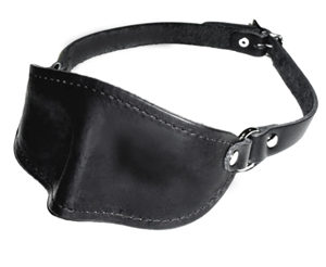 665 Molded Leather Blindfold With Buckled Strap